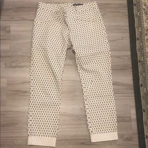 Cropped cuffed pant ankle printed